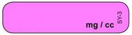 SY-3 Syringe Label - Generic Drug Syringe Label