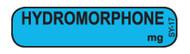 SY-17 Syringe Label - Hydromorphone