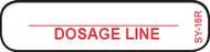SY-18R Syringe Label - Dosage Line
