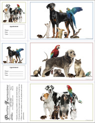 3PETMIX3 - 3 Up Reminder Cards