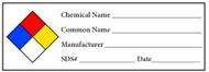 H-1 Chemical Hazard Label