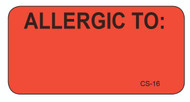 CS-16 - Cage Stickers - Allergic To: