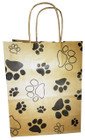 "KPBS - Small Kraft Paper Bag with Handles 8""x4.25"" x 10.25"""