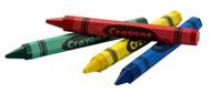 CRAYONS - 4 colors per pack, 5 packs/unit