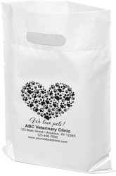"""PTL5 - Personalized Plastic Tote Bag - 12"""" x 15"""""""