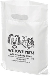 "PTL6 - Personalized Plastic Tote Bag - 12"" x 15"""