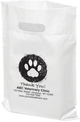 """PTL7 - Personalized Plastic Tote Bag - 12"""" x 15"""""""