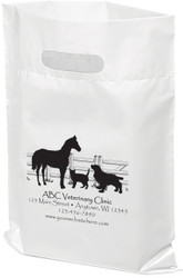"""PTL10 - Personalized Plastic Tote Bag - 12"""" x 15"""""""