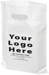 """PTLP - Personalized Plastic Tote Bag - 12"""" x 15"""" (Multiple Bag & Imprint Colors Available) Call for pricing - 1-877-761-5933"""