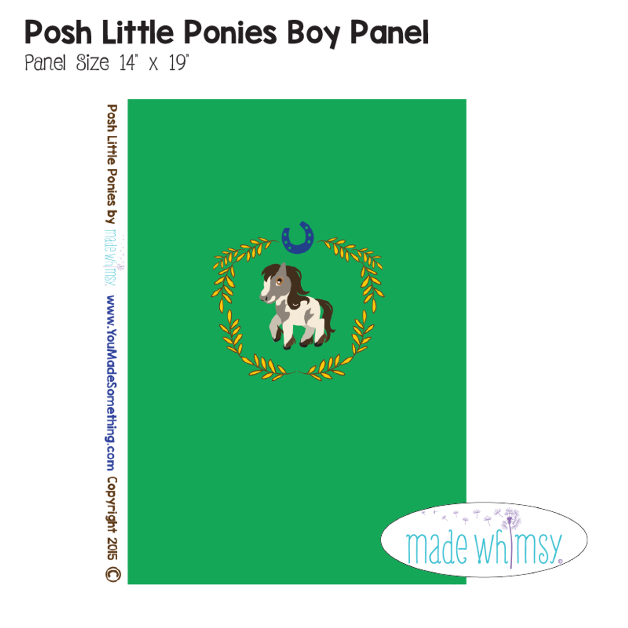 Posh Little Ponies Boy Knit Panel By Made Whimsy