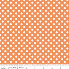 Knit Small Dots Orange by Riley Blake