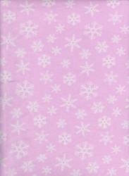 Pink Snowflake Lycra Knit