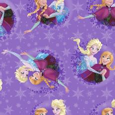 Disney Frozen Sisters Purple Snowflake Fleece