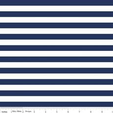 Knit Half Inch Stripe Navy by Riley Blake