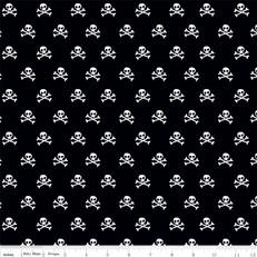Military Skulls Black by Riley Blake
