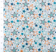 Blast Off Stars Multi White by Wilmington