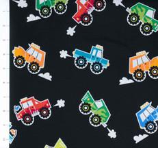 Super Speedway Monster Trucks Black by Robert Kaufman