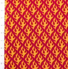 Super Speedway Flames Red by Robert Kaufman