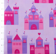 Princess Life Castles Purple by Robert Kaufman