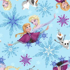 Disney Frozen Sisters Ice Skating Blue Fleece