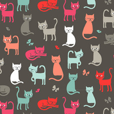 Cats on Grey by Andover