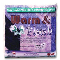 "Warm Company Warm & Plush Batting Crib Size 45"" x 60"""