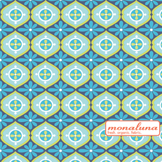 Organic Tunisian Tile Interlock Knit by Mona Luna