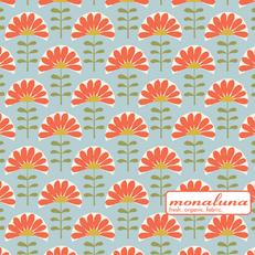 Organic Folk Flowers Interlock Knit by Mona Luna