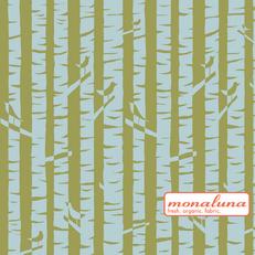 Organic Birches Knit Interlock by Mona Luna