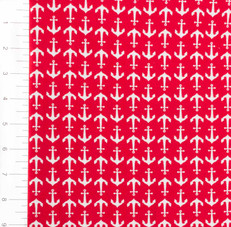 Knit Anchors Red by Riley Blake