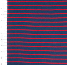 Knit Navy and Red Yarn Dyed Stripe