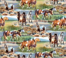 Unbridled Horses by Wilmington Prints