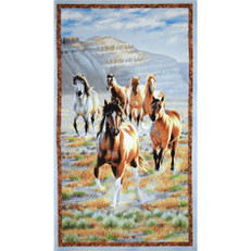 Unbridled Horse Panel by Wilmington Prints