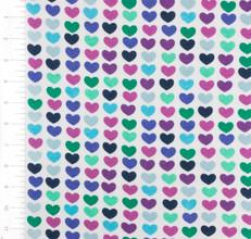 Remix Hearts Azure Knit by Robert Kaufman