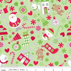 Holidays Main Green Knit by Riley Blake