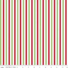 Christmas Stripe 1/4 Inch Knit by Riley Blake