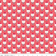 Santa Claus Red Fabric by Riley Blake