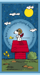 The Flying Ace Snoopy Fabric Panel by Quilting Treasures