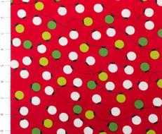 Jingle Lights on Red by Robert Kaufman