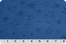 Embossed Star Minky in Midnight Blue by Shannon Fabrics