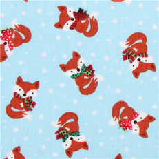 Tossed Winter Foxes by Timeless Treasures