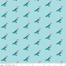 Idle Wild Birds Blue by Riley Blake
