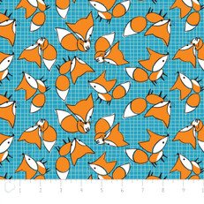 Foxes Blue Flannel by Camelot