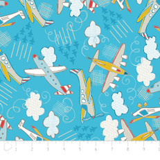 Planes Blue Flannel by Camelot