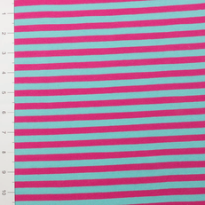 """3/8"""" Turquoise & Fuchsia Yarn Dyed Stripe by Made Whimsy"""