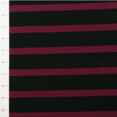 Maroon & Black Yarn Dyed Stripes by Made Whimsy