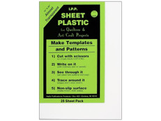 "Template Plastic Sheets, 14"" x 20"""
