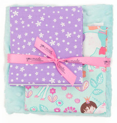 Unicorn Princess Aqua Blanket Bundle
