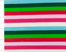 Festive Knit Striped Fabric