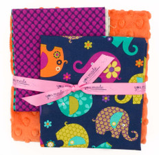 Elephant Romp Midnight DIY Blanket Bundle